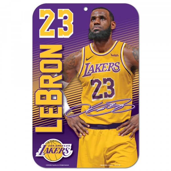 90fe7e03a503 WinCraft LeBron James Los Angeles Lakers Player NBA Sign