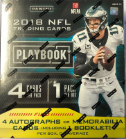 2018 Panini Playbook Football Hobby Box NFL