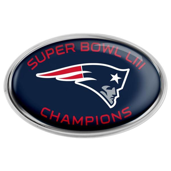 New England Patriots Metal Super Bowl LIII Champions NFL Team Emblem