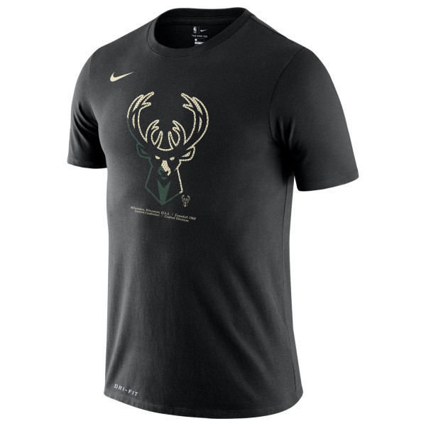 Milwaukee Bucks Bold Logo Dri-FIT NBA T-Shirt