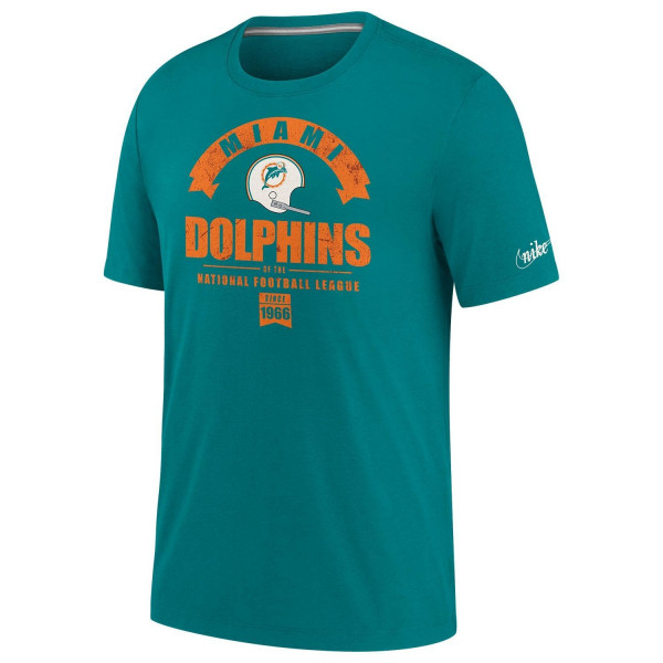Miami Dolphins 1997 Historic Nike Tri-Blend NFL T-Shirt Aqua
