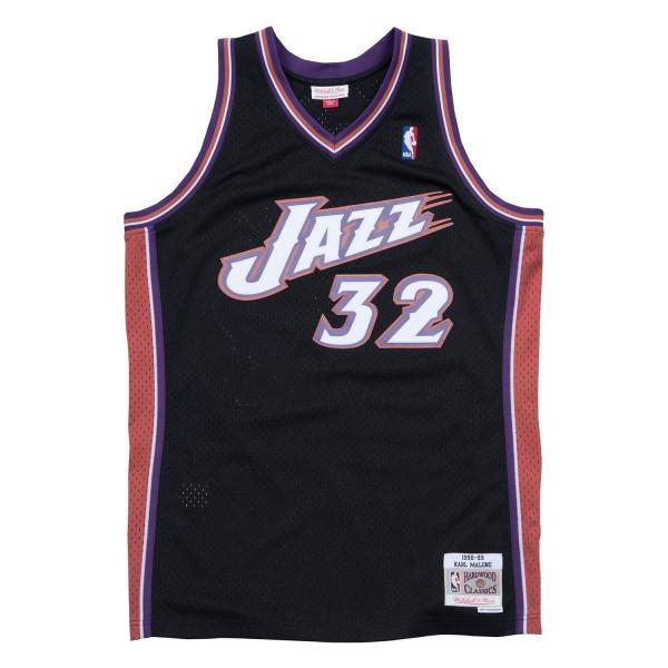 Karl Malone #32 Utah Jazz 1998-99 Swingman NBA Trikot Schwarz