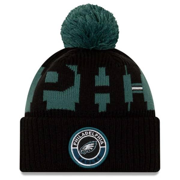 Philadelphia Eagles Official 2020 NFL Sideline New Era Sport Knit Wintermütze