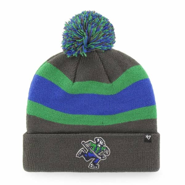 Vancouver Canucks Charcoal Breakaway NHL Wintermütze