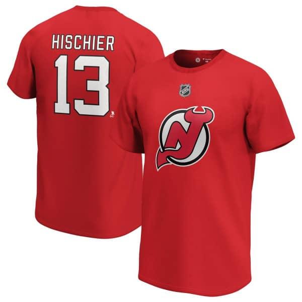 Nico Hischier #13 New Jersey Devils Fanatics Player NHL T-Shirt