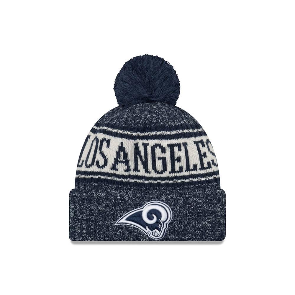 e186e11e2 New Era Los Angeles Rams 2018 Sideline Sport Knit NFL Knit Hat ...