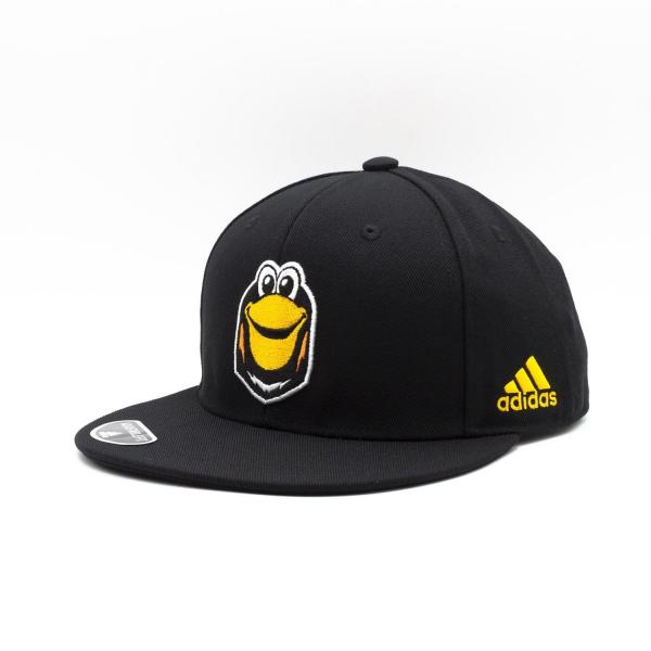 Pittsburgh Penguins Mascot Logo adidas NHL Snapback Cap Schwarz
