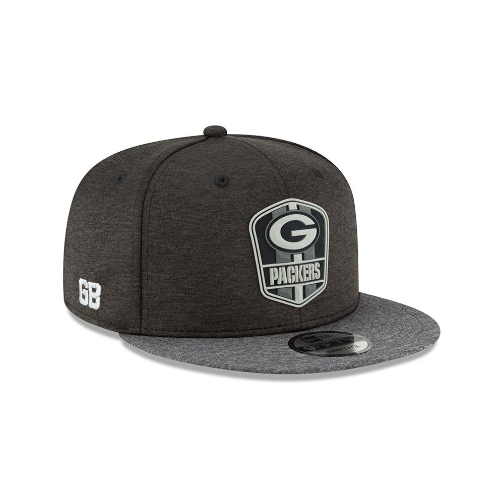 New Era Green Bay Packers BLACK 2018 NFL Sideline 9FIFTY Snapback Cap Road   4ad9b8d15