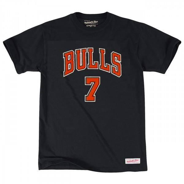 Toni Kukoc #7 Chicago Bulls Mitchell & Ness Name & Number NBA T-Shirt Schwarz