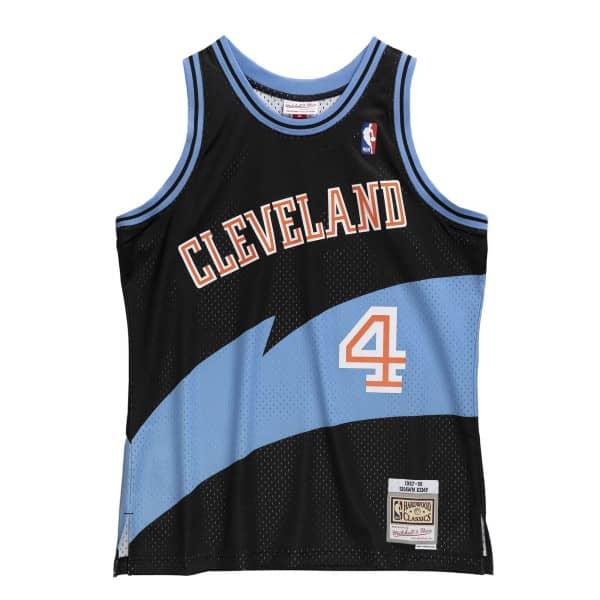 Shawn Kemp #4 Cleveland Cavaliers 1997-98 Mitchell & Ness Swingman NBA Trikot Schwarz