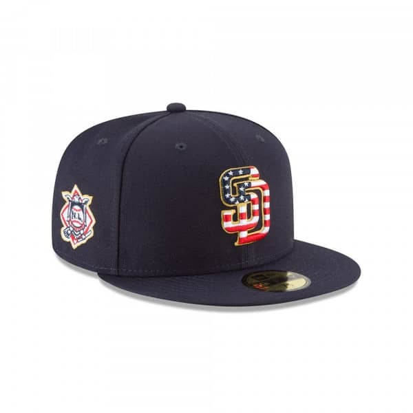 San Diego Padres 4th of July 2018 59FIFTY Fitted MLB Cap