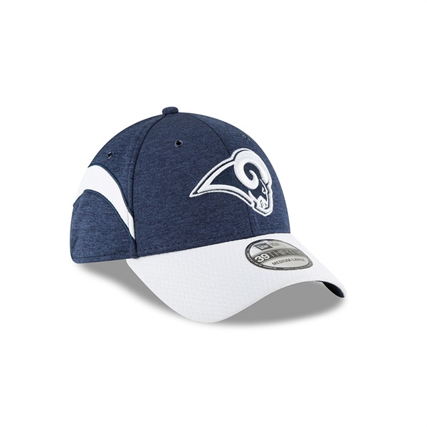 the latest ee258 847f0 New Era Los Angeles Rams 2018 NFL Sideline 39THIRTY Flex Cap Home   TAASS.com  Fan Shop