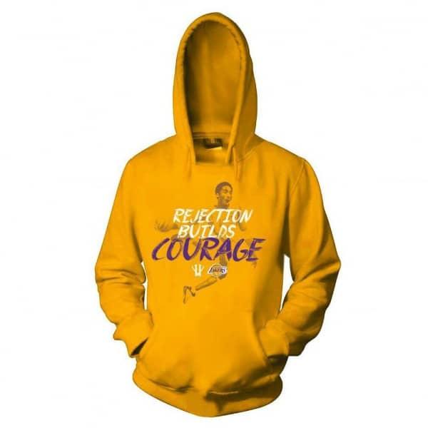 new product 35ce7 67894 KB20 Kobe Bryant Courage Basketball Hoodie Sweatshirt Yellow   TAASS.com  Fan Shop