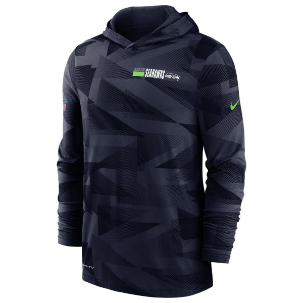 Seattle Seahawks 2020 NFL Sideline Long Sleeve Nike Lightweight Hoodie