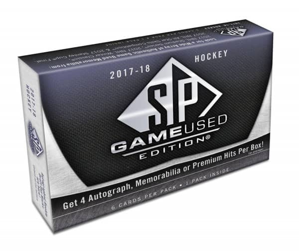 2017/18 Upper Deck SP Game Used Hockey Hobby Box NHL
