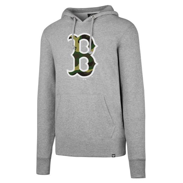 Boston Red Sox Camo Logo Headline MLB Hoodie Sweatshirt