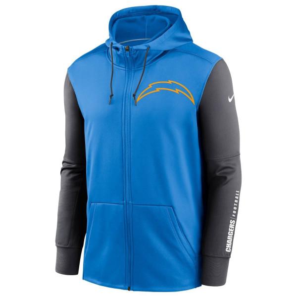 Los Angeles Chargers 2020 NFL Big Logo Nike Therma Full-Zip Hoodie
