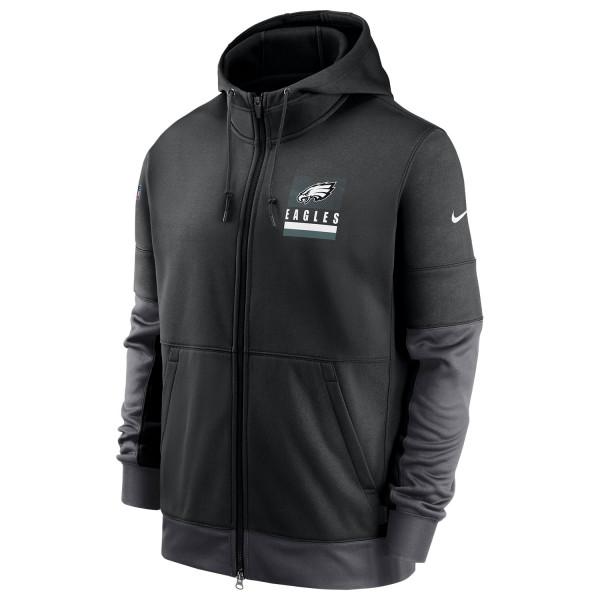 Philadelphia Eagles 2020 NFL Sideline Lockup Nike Therma Full-Zip Hoodie