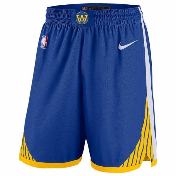 Golden State Warriors Icon Nike Swingman NBA Shorts Blau