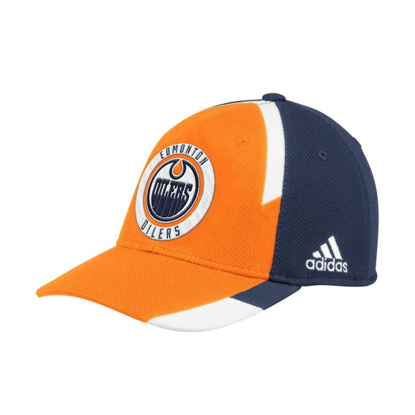 new arrival ce8d3 4357f adidas Edmonton Oilers Echo Flex Fit NHL Cap   TAASS.com Fan Shop