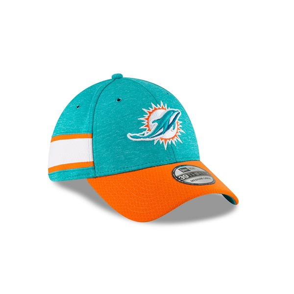 Miami Dolphins 2018 NFL Sideline 39THIRTY Flex Cap Home