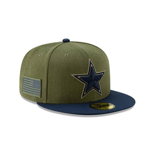 New Era Dallas Cowboys 2018 Salute to Service 59FIFTY NFL Cap ... 4581cfbbc871
