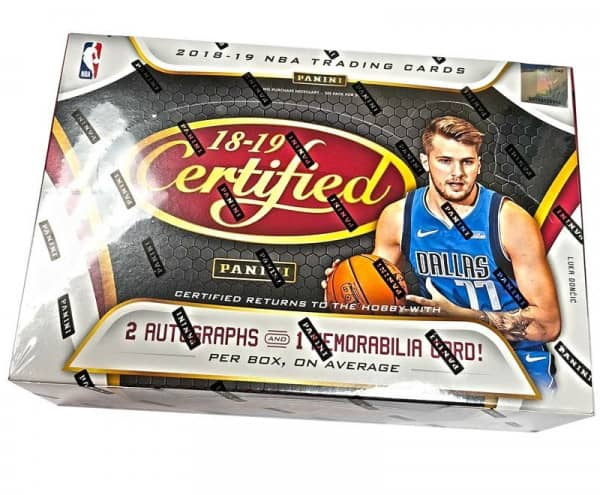 2018/19 Panini Certified Basketball Hobby Box NBA