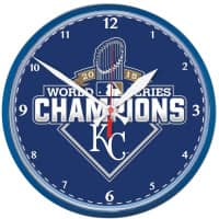 Kansas City Royals 2015 World Series Champions MLB Wanduhr