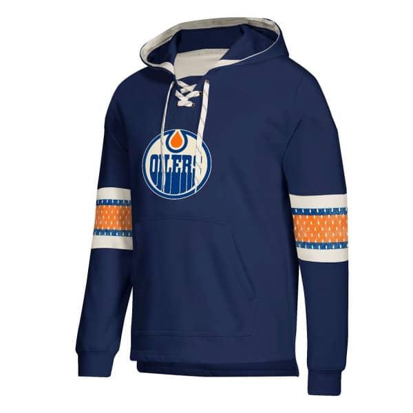 reputable site 55d31 64273 Edmonton Oilers Vintage NHL Jersey Hoodie