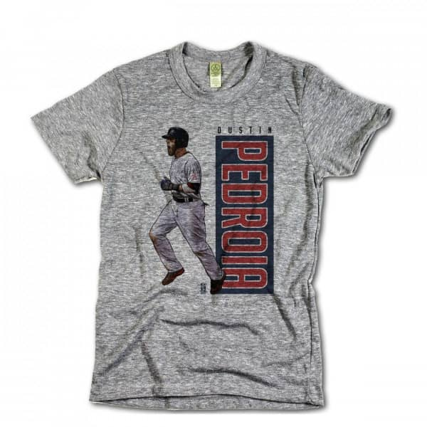 Boston Red Sox Dustin Pedroia MLB T-Shirt Grau