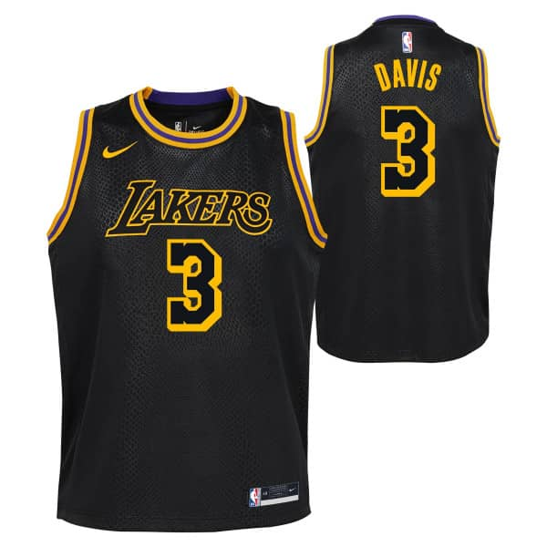 Anthony Davis #3 Los Angeles Lakers Black Mamba Nike Swingman NBA Trikot (KINDER)