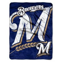 Milwaukee Brewers Micro Raschel MLB Decke