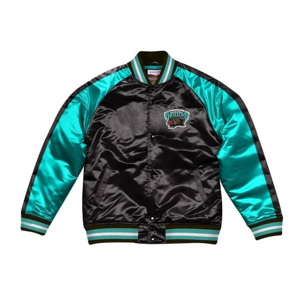 Vancouver Grizzlies Color Blocked Lightweight Satin NBA Jacke