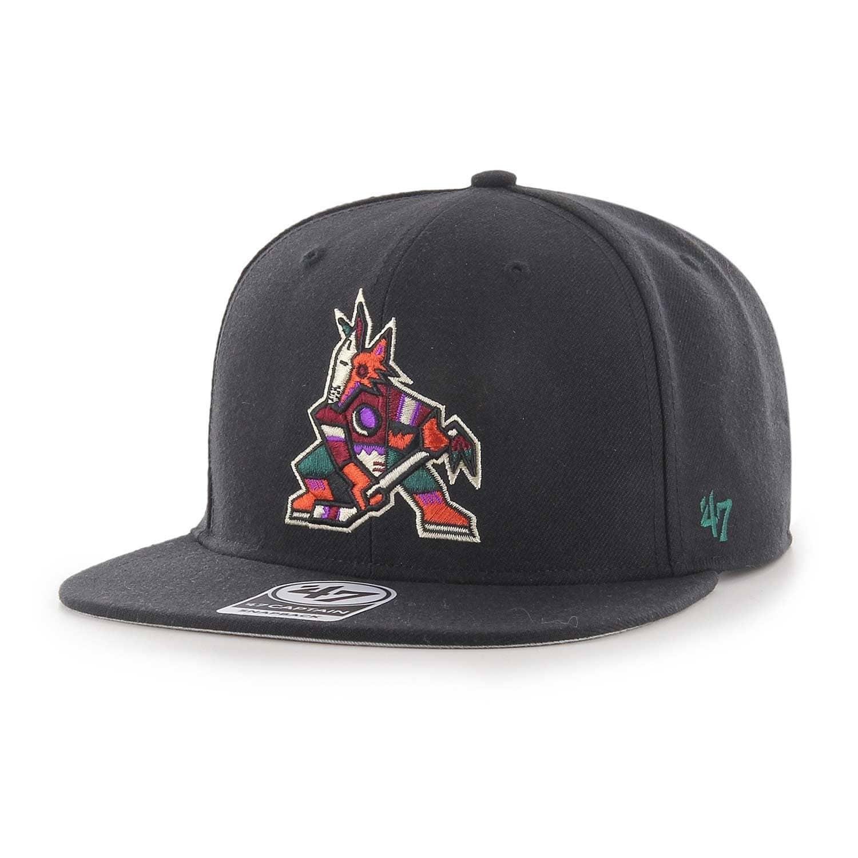 3494a4dff087d  47 Brand Arizona Coyotes Alternate Logo Captain Snapback NHL Cap Black