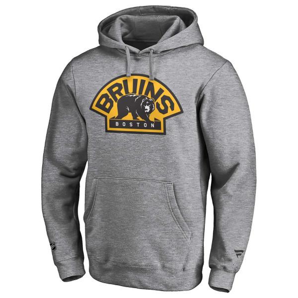 Boston Bruins Secondary Fanatics Iconic NHL Hoodie Grau
