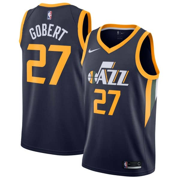 newest bcfa8 654cd Rudy Gobert #27 Utah Jazz Icon Swingman NBA Jersey Blue