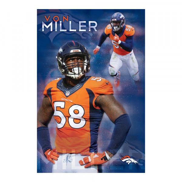 Denver Broncos Von Miller Superstar NFL Poster