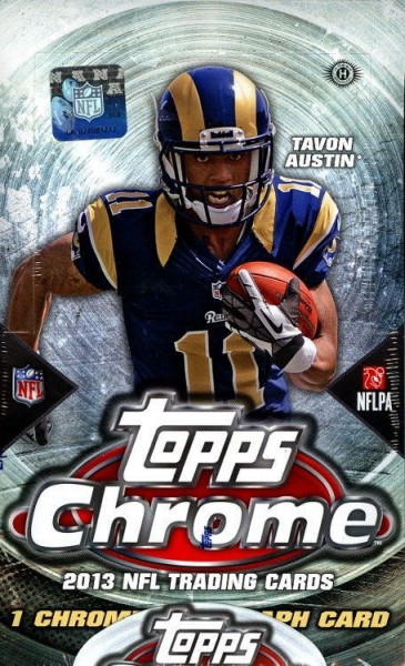 2013 Topps Chrome Football Hobby Box NFL