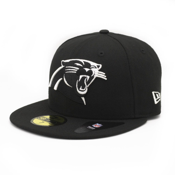 Carolina Panthers Black & White 59FIFTY Fitted NFL Cap