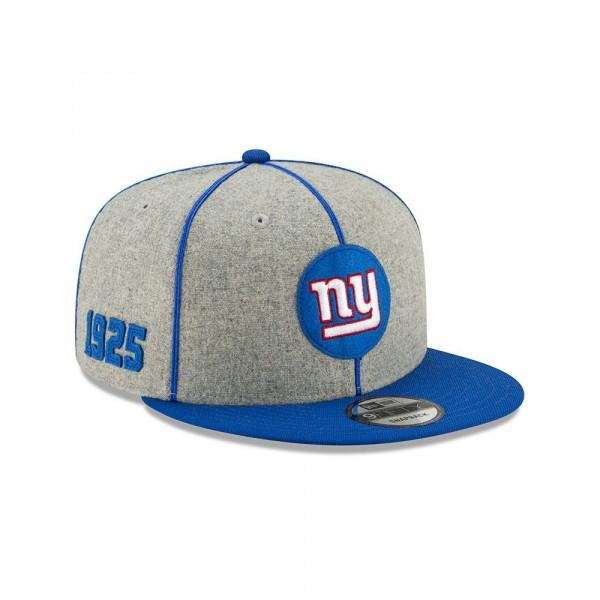 New York Giants 2019 NFL On-Field Sideline 9FIFTY Snapback Cap Home