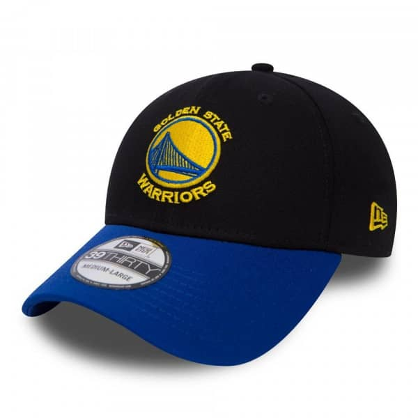 Golden State Warriors Black Base 39Thirty NBA Stretch Fit Cap