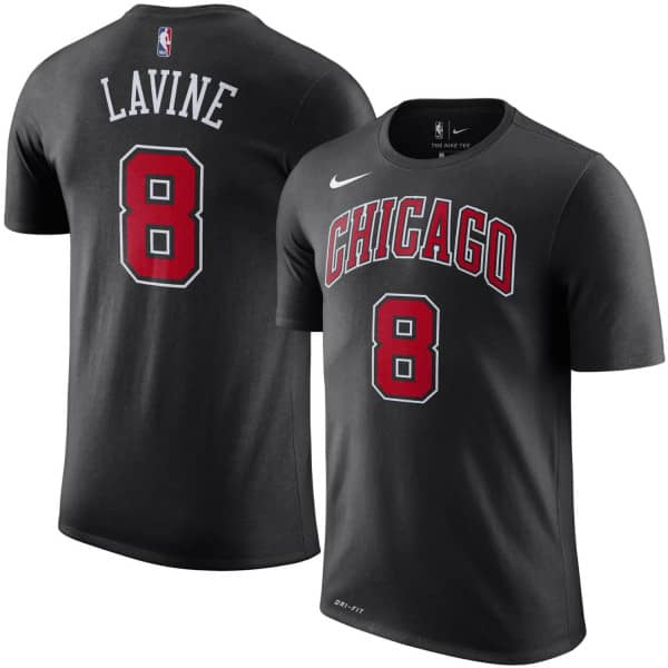 f53875772 Nike Zach LaVine  8 Chicago Bulls Player NBA T-Shirt Black