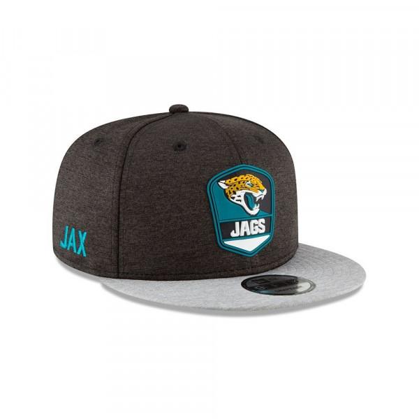 Jacksonville Jaguars 2018 NFL Sideline 9FIFTY Snapback Cap Road