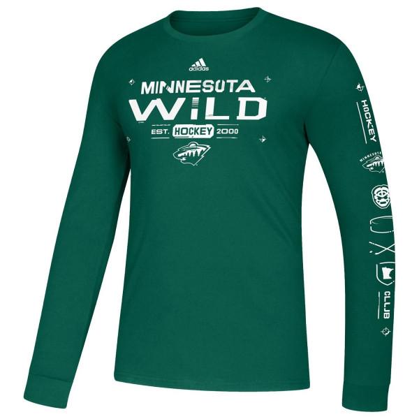 Minnesota Wild 2019/20 NHL Long Sleeve Amplifier T-Shirt