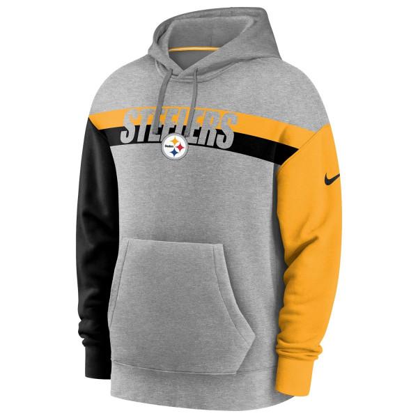 Pittsburgh Steelers 2020 NFL Wordmark Heritage Nike Tri-Blend Hoodie
