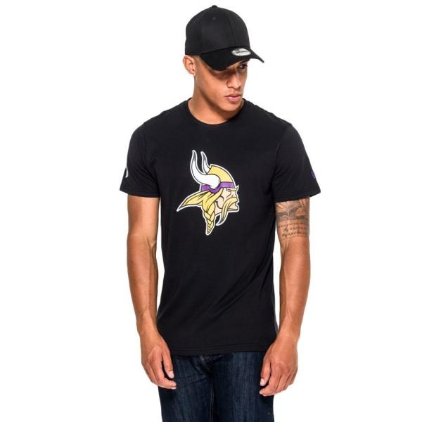 Minnesota Vikings Team Logo Football NFL T-Shirt Schwarz