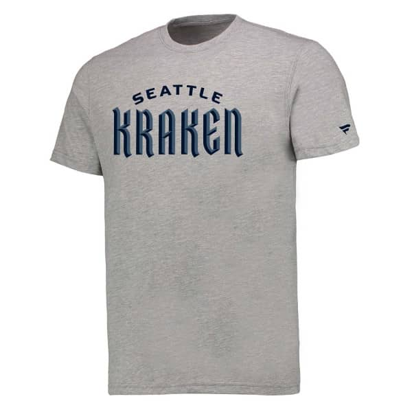 Seattle Kraken Wordmark Fanatics NHL T-Shirt Grau