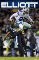 Ezekiel Elliott Dallas Cowboys Hurdle NFL Poster