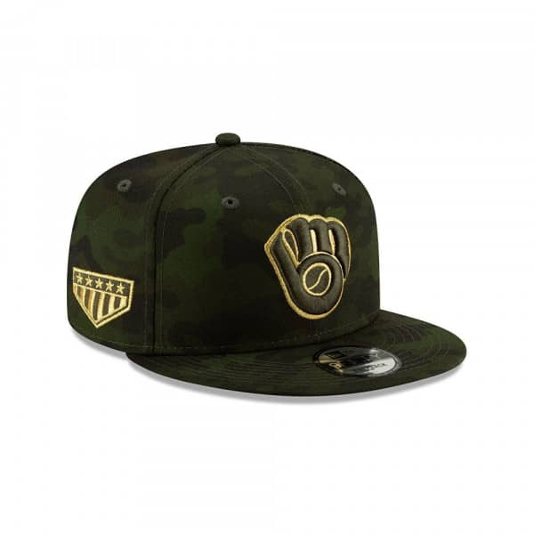 low priced 499f7 74672 New Era Milwaukee Brewers 2019 Armed Forces Day 9FIFTY Snapback MLB Cap    TAASS.com Fan Shop