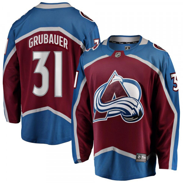 Philipp Grubauer #31 Colorado Avalanche Breakaway NHL Trikot Home